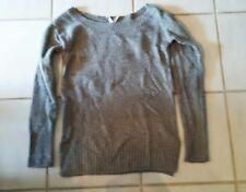 misses jrs juniors s small grey sparkle sweater aeropostal NWOT