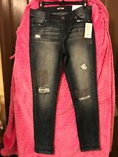 Women s Juicy Couture Rhinestone Patch SKINNY Ripped Jean Size 4   6 ... 1baf1d407