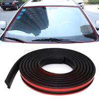 2m Car Door Window Edge Protectors Trim U Shape Guard Seal Rubber Strip 20mm W