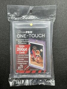 Ultra Pro 260pt One-Touch Card Holder Gold Magent Card Protector Holds 260pt
