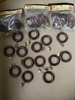 Lot 35 Bamboo Wooden Curtain Rings