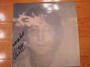 Alan White signed John Lennon Imagine LP coa + Proof! autographed Beatles Yes