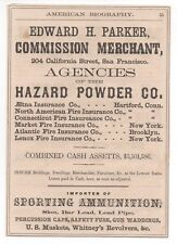 1870s Advertisement Hazard Powder Co Agent San Francisco Whitney's Revolvers