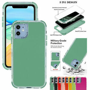 For iPhone 12 Pro Max 11 6 7 8 X XS XR SE Defender Shockproof Case Hybrid Cover