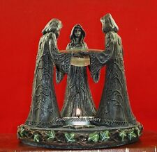 Magik Circle Pagan Wiccan Maiden Mother Crone Triple Goddess Incense Oil Burner