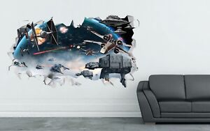 Star Wars Battle wall decals stickers mural home decor for bedroom Art - LS335