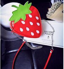 US SHIP!Fruit Cartoon Cute Strawberry Bag Shoulder Crossbody Bag Fashion Handbag