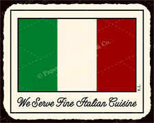 (VMA-L-6544) Italian Flag Vintage Metal Art Italian Pizzeria Retro Tin Sign
