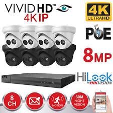 HIKVISION 8MP CCTV SYSTEM IP POE 8CH CHANNEL 4K UHD NETWORK NVR BLACK CAMERA KIT