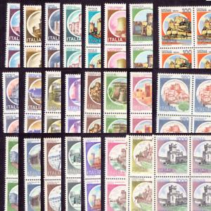Italia 1980 Castelli d'Italia Quartina Nuovi MNH** Gomma Integra Originale