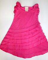 Lemon Loves Lime Pink Ruffles Dress Girl Size 4
