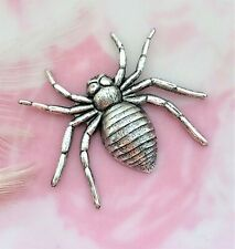~ Jewelry Ornament Finding (C-1409) Antique Silver Gothic Spider Stamping