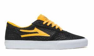 Lakai Skateboard Shoes Manchester Black/Gold Suede