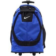 "Nike Rolling Backpack 19"" Jordan Blue Black BACK 2 School Bag Laptop Luggage NEW"