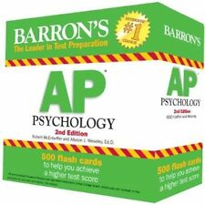 Barron's AP Psychology Flash Cards, 2nd Edition by Robert McEntarffer and Allys…