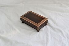 Wood chest. smoked etimoe and walnut