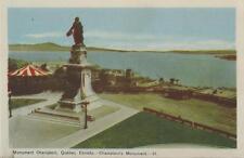 Postcard Quebec City Monument Champlain Statue Paul-Romain Chevré Peco Nr Mint
