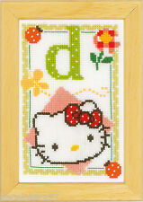Vervaco 0149526 Alfabeto Hello Kitty - Letra Kit D contado
