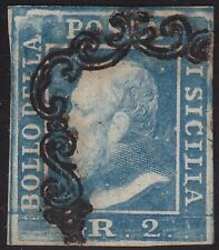 SICILIA 1859 - 2 gr. n. 7 USATO II TAVOLA SPL € 250