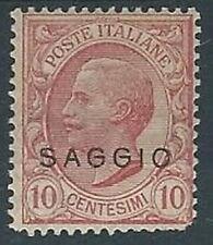 1906 REGNO EFFIGIE SAGGIO 10 CENT MH * - RR13918-2