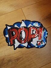 hotfix POW cartoon comic sequin embroidered lace applique motif patch costume