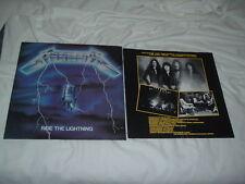 METALLICA Ride the Lightning '84 ORIGINAL VERTIGO !! IMPORT !!! press
