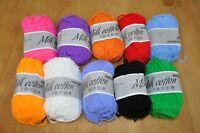 10 x Milk Cotton 5 ply Knitting Thread yarn - 500g total