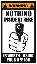 Fridge Magnet: WARNING - NOTHING INSIDE OF HERE IS WORTH LOSING YOUR LIFE FOR