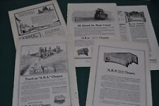 1914-19 American Bankers Association advertisements x5, Travelers Cheques Checks