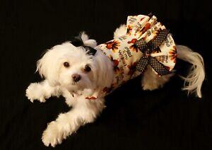 XXX-Small- Thanksgiving Wobble Gobble Dress-Dog dress clothes-Puppy Apparel