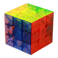 3 X 3 X 3 Magic Cube Transparent Smooth Surface Stickerless Twist Puzzle Speed
