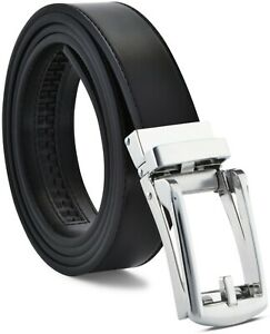 Men's Ratchet Belt Genuine Leather Mens Belt with Slide Ratchet Belts for men