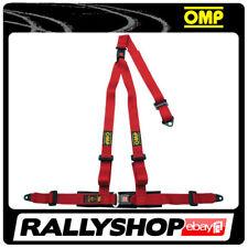 OMP STRADA 3 3 POINTS RED SEATBELT Harness Belts Race Racing Rally DA509061