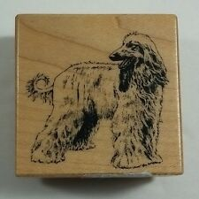 Afghan Hound Rubber Stamp PSX E238 Ring Curl Tail Long Hair Dog