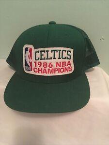 Mitchell Ness Hardwood Classics 1986 Celtics NBA Champions Cap