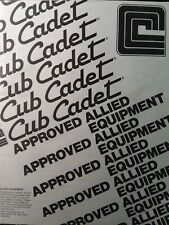 Cub Cadet Lawn Tractor Garden Approved Allied Implement Attachment & Acc Manual