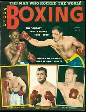 WORLD BOXING MAGAZINE JULY 1970 JOE FRAZIER, GEORGE CHUVALO, JERRY QUARRY & MORE