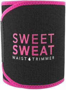 Sweet Sweat Premium Waist Trimmer for Men&Women by Sports Research Pink Small