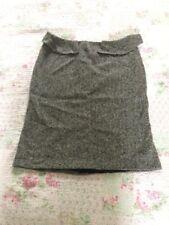 Stunning JOSEPH Virgin Wool Silk Chevron Print Peplum Skirt-sz 10/12 Black White