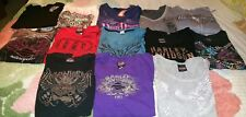 WOMEN'S XL 2Xl 3Xl HARLEY DAVIDSON MIXED CLOTHING LOT (12) T-SHIRTS USED/NEW
