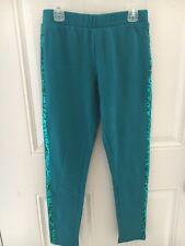 Crazy 8 Deep Green Sparkly Sequin Stripe Knit Pants Sz 14 Xl