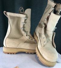 NEW Addison Mens 7.5 R Military Combat Boots Heavy Duty Goretex Desert Tan