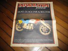 """Journal Moto """" Du bol d'air au bol d'or """" Mars 1978 n°2"""