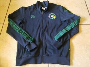 Umbro New York Cosmos MLS Soccer Blue Zip Up Sweatshirt Size Medium