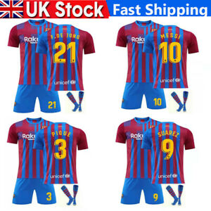 2021-22Home Kid Adult Football Kit Blue Strips Shirt Soccer Jersey Training Suit