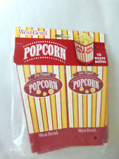 Westbend Popcorn Boxes 10 Ct Red Yellow White New in Package