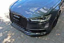 carbon Cup Spoilerlippe für Audi A6 4G Lippe Front Diffusor Ansatz schwert vorn