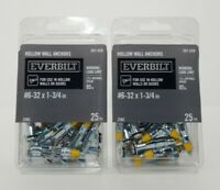 Everbilt 120 711 #6-32 x 1-3//4 Hollow Wall Anchors Working load 85 lb 4 packs of