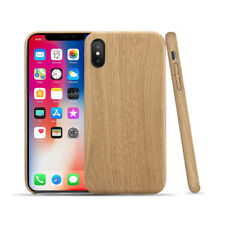 iPhone X Xs Xs MAX Ultra Slim Wood Pattern Soft Matte Flexible Case Cover