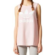 adidas Originals Women's LOOSE TREFOIL TANK TOP Icey Pink Relaxed Fit BP9383